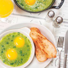 Eggs in dish